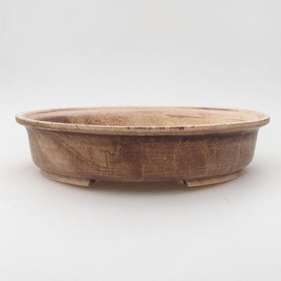 Keramische Bonsai-Schale 28 x 25 x 6 cm, Farbe braun - 1