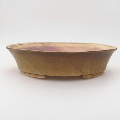 Keramische Bonsai-Schale 26,5 x 21,5 x 6 cm, Farbe grün - 1