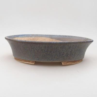Keramische Bonsai-Schale 26,5 x 21,5 x 6 cm, Farbe blau - 1