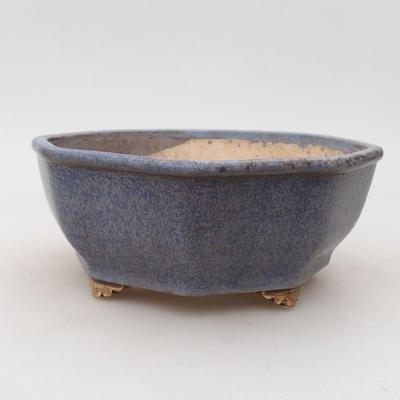 Keramische Bonsai-Schale 15,5 x 15,5 x 6,5 cm, Farbe blau - 1