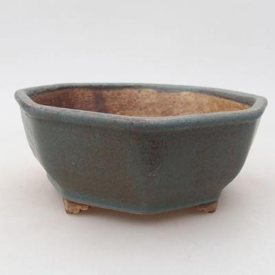 Keramische Bonsai-Schale 15,5 x 15,5 x 6,5 cm, Farbe grün - 1