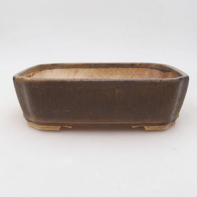 Keramische Bonsai-Schale 20 x 17 x 5,5 cm, braune Farbe - 1