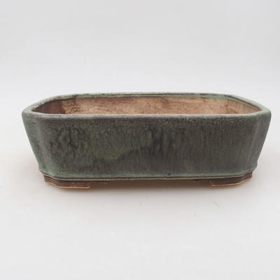 Keramische Bonsai-Schale 20 x 17 x 5,5 cm, Farbe grün - 1