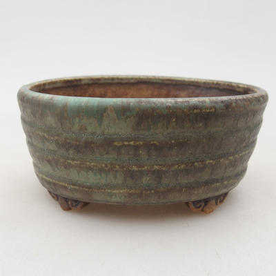 Keramische Bonsai-Schale 10,5 x 9 x 4,5 cm, Farbe grün - 1