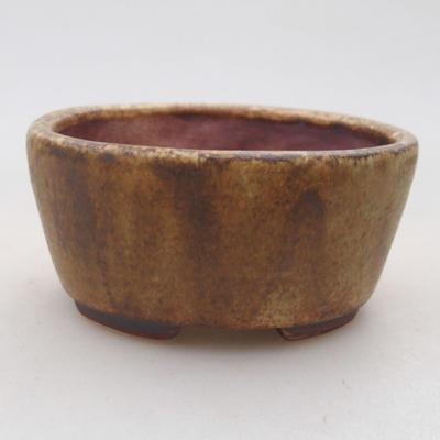 Keramische Bonsai-Schale 7,5 x 6,5 x 3,5 cm, braune Farbe - 1