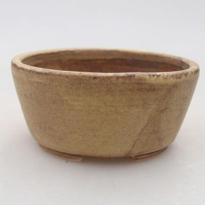 Keramische Bonsai-Schale 7,5 x 6,5 x 3,5 cm, gelbe Farbe - 1