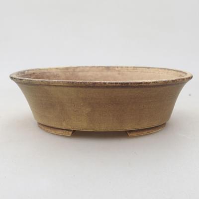 Keramische Bonsai-Schale 14 x 12 x 3,5 cm, Farbe gelb - 1