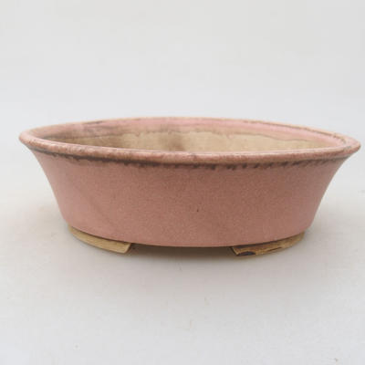Keramik Bonsai Schüssel 14 x 12 x 3,5 cm, Farbe rosa - 1