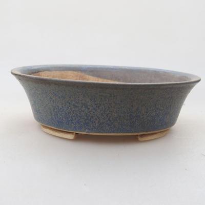 Keramische Bonsai-Schale 14 x 12 x 3,5 cm, Farbe blau - 1