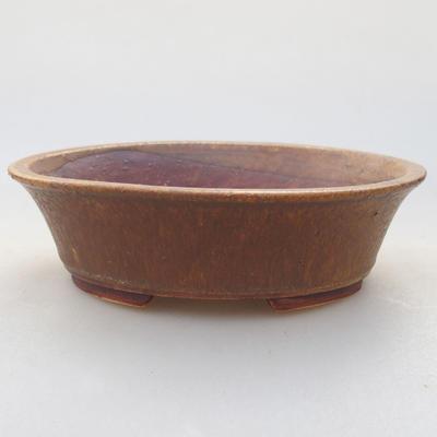 Keramische Bonsai-Schale 14 x 12 x 3,5 cm, Farbe braun - 1