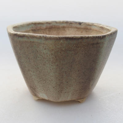 Keramische Bonsai-Schale 8,5 x 8,5 x 5,5 cm, Farbe grün - 1