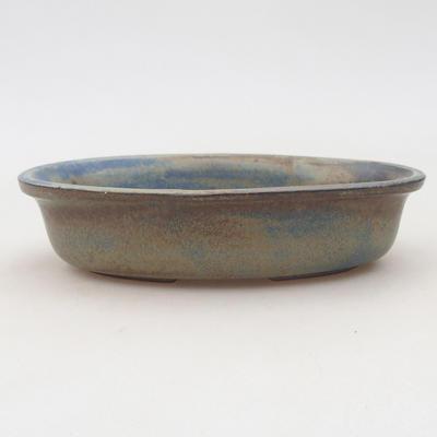 Keramische Bonsai-Schale 15 x 10,5 x 3,5 cm, braun-blaue Farbe - 1