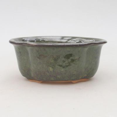 Keramische Bonsai-Schale 13,5 x 11,5 x 6 cm, Farbe grün - 1