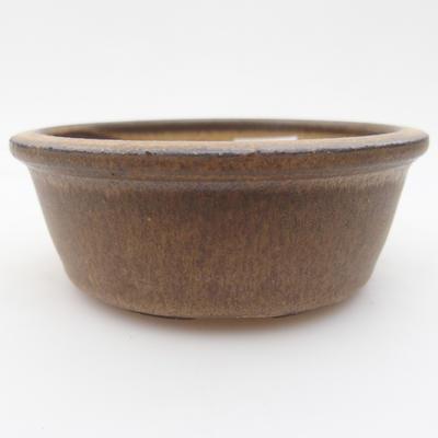 Keramik Bonsai Schüssel 10 x 10 x, 3,5 cm, braune Farbe - 1