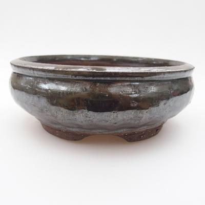 Keramik Bonsaischale 15 x 15 x 5,5 cm, Farbe grün - 1