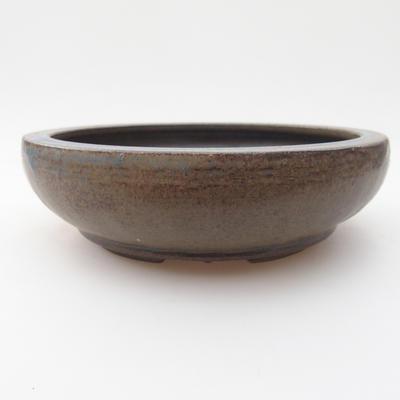 Keramik Bonsai Schüssel 15 x 15 x 4 cm, braun-blaue Farbe - 1