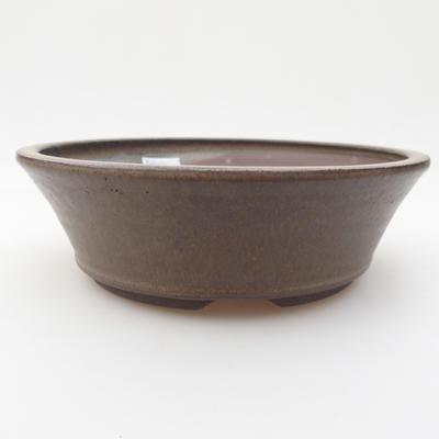 Keramik Bonsaischale 17,5 x 17,5 x 5 cm, Farbe grau - 1