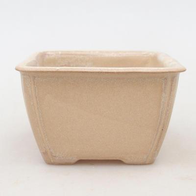 Keramische Bonsai-Schale 8,8 x 8,5 x 5 cm, beige Farbe - 1