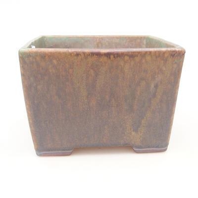 Keramische Bonsai-Schale 16 x 16 x 11 cm, Farbe braun-grün - 1
