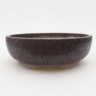 Keramische Bonsai-Schale 18 x 18 x 6 cm, Farbe braun - 1
