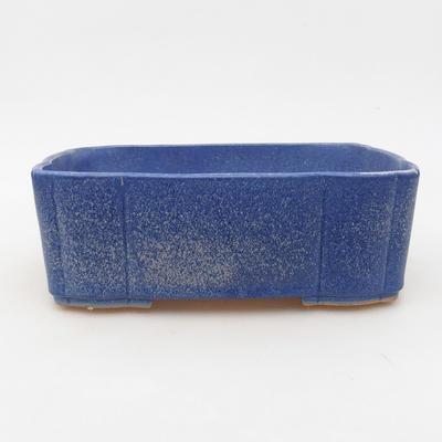 Keramische Bonsai-Schale 20 x 17 x 6,5 cm, Farbe blau - 1