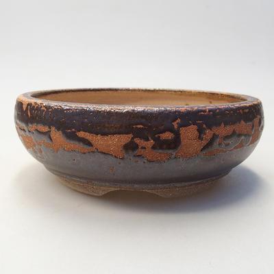 Keramische Bonsai-Schale 14,5 x 14,5 x 5 cm, braune Farbe - 1