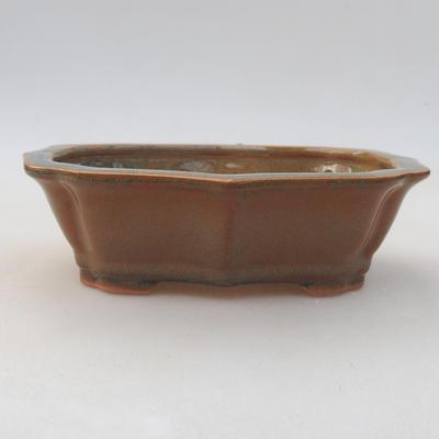 Keramische Bonsai-Schale 14 x 10 x 4,5 cm, braune Farbe - 1