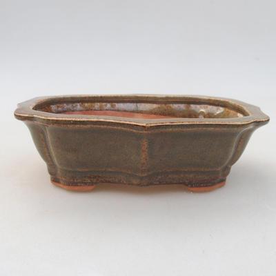Keramische Bonsai-Schale 14 x 10 x 4,5 cm, Farbe grün - 1
