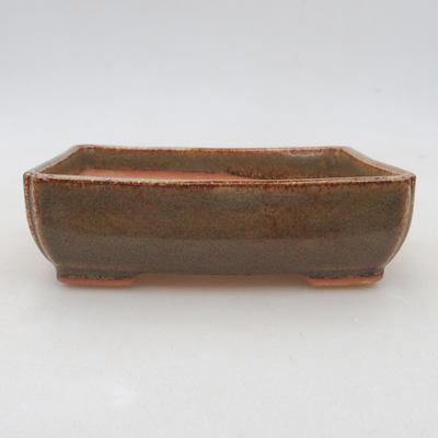 Keramik Bonsai Schüssel 13 x 10 x 4 cm, Farbe grün - 1