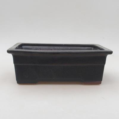 Keramische Bonsai-Schale 20,5 x 15 x 7 cm, Metallfarbe - 1