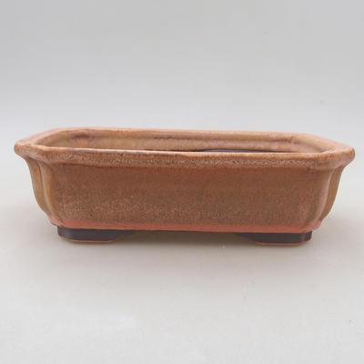 Keramische Bonsai-Schale 16,5 x 13 x 5 cm, Farbe rosa - 1