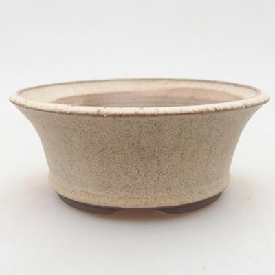 Bonsai-Keramikschale 11 x 11 x 4,5 cm, beige Farbe - 1