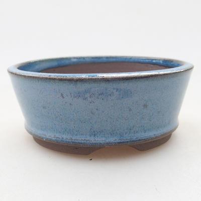 Keramische Bonsai-Schale 9 x 9 x 3,5 cm, Farbe blau - 1