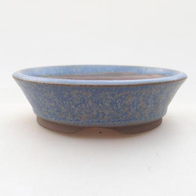 Keramische Bonsai-Schale 9 x 9 x 2,5 cm, Farbe blau - 1