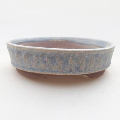 Keramische Bonsai-Schale 9 x 9 x 3 cm, Farbe blau - 1