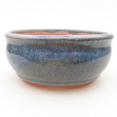 Keramische Bonsai-Schale 10 x 10 x 4,5 cm, Farbe blau - 1