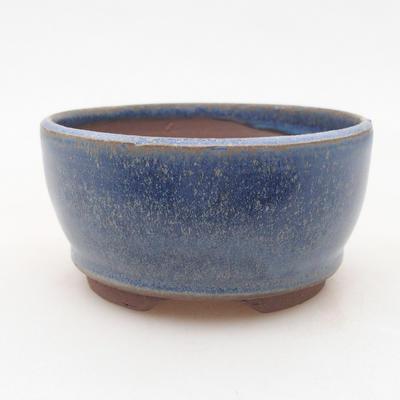 Keramische Bonsai-Schale 9 x 9 x 4 cm, Farbe blau - 1