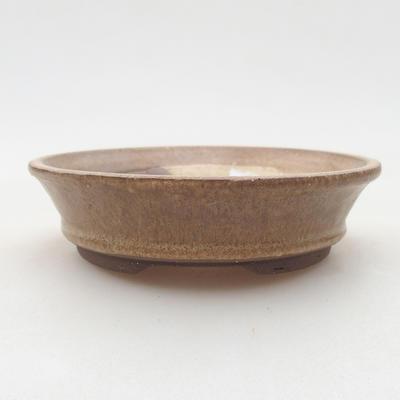 Keramische Bonsai-Schale 11,5 x 11,5 x 3 cm, beige Farbe - 1
