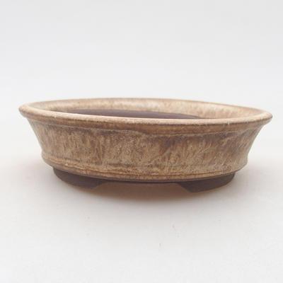 Bonsai-Keramikschale 11 x 11 x 3 cm, beige Farbe - 1