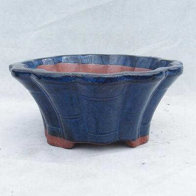 Bonsaischale 29 x 29 x 13 cm, Farbe blau - 1