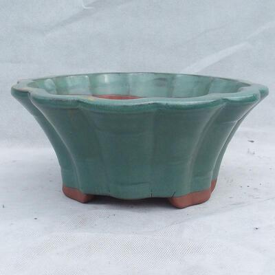 Bonsaischale 29 x 29 x 13 cm, Farbe grün - 1