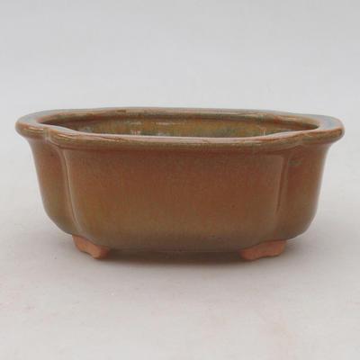Keramik Bonsai Schüssel 13 x 10 x 5 cm, Farbe grau-rostig - 1