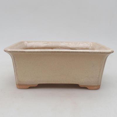 Bonsai-Keramikschale 18 x 14 x 7 cm, beige Farbe - 1