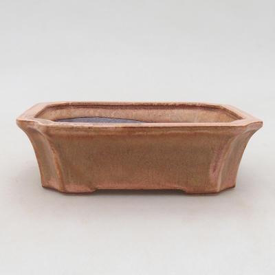 Keramik Bonsai Schüssel 13 x 10,5 x 4 cm, Farbe rosa - 1