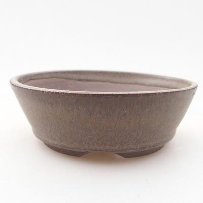 Keramische Bonsai-Schale 10 x 105 x 3 cm, Farbe braun - 1