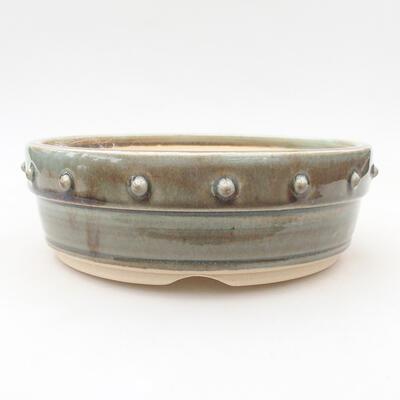 Keramische Bonsai-Schale 18 x 18 x 6 cm, Farbe grün - 1