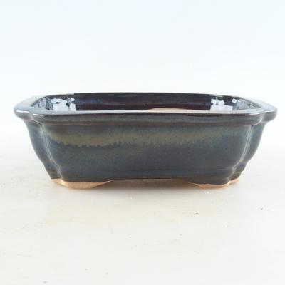 Keramische Bonsai-Schale 16 x 12,5 x 4,5 cm, braun-blaue Farbe - 1