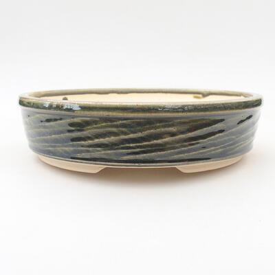 Keramische Bonsai-Schale 19,5 x 19,5 x 5 cm, Farbe grün - 1