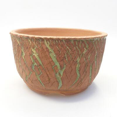 Keramik Bonsai Schüssel 14 x 14 x 8,5 cm, Farbe rissig - 1