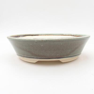 Keramische Bonsai-Schale 20,5 x 20,5 x 5,5 cm, Farbe grün - 1